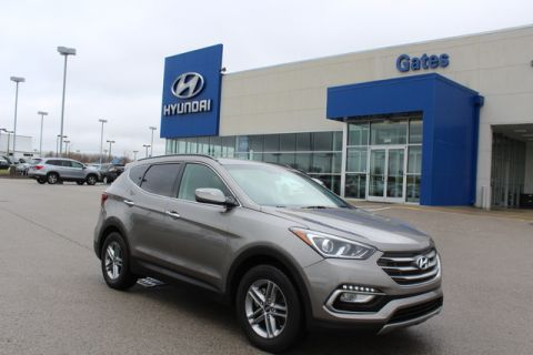 Pre-Owned 2017 Hyundai Santa Fe Sport FWD w/Pwr Seat & Rearview Camera